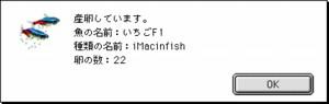 iMacinfish産卵アラートウィンドウ
