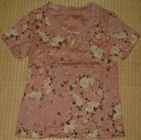 ホワイトローズプリントTシャツ