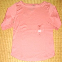 ユニクロフライス五分袖Tシャツ