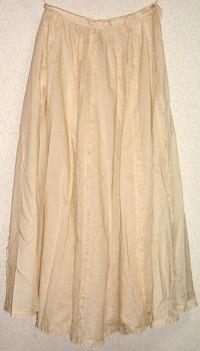 綿ローン生成りスカート