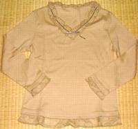 インゲボルグ ベージュ八分袖カットソー