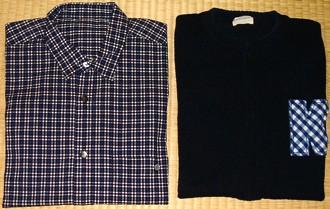 Papasのシャツとカールヘルムの綿ニット