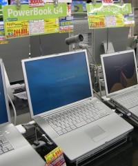 PowerBook店頭陳列の様子