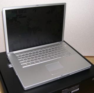 データ移行の完了したPowerBookG4
