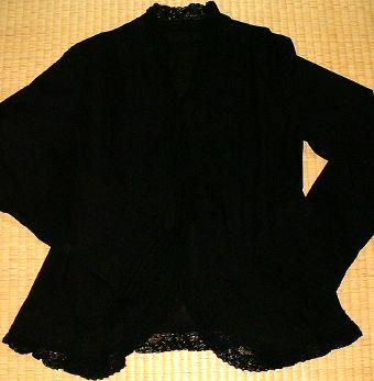 綿ローンオーバーブラウス(黒)
