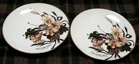 フェアノベルティ 百合絵柄の皿
