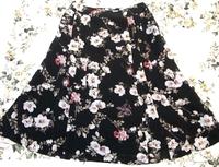 バーネットローズプリント丈短スカート