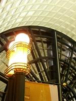 ガレリアの2階照明と天井