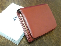 キタムラ二つ折り財布(ワイン色)
