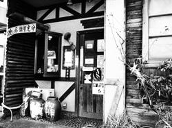 千駄木のカフェ(ラフモノクローム)
