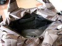 横長キルティングバッグの内側
