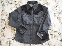 デニムシャツ(黒)