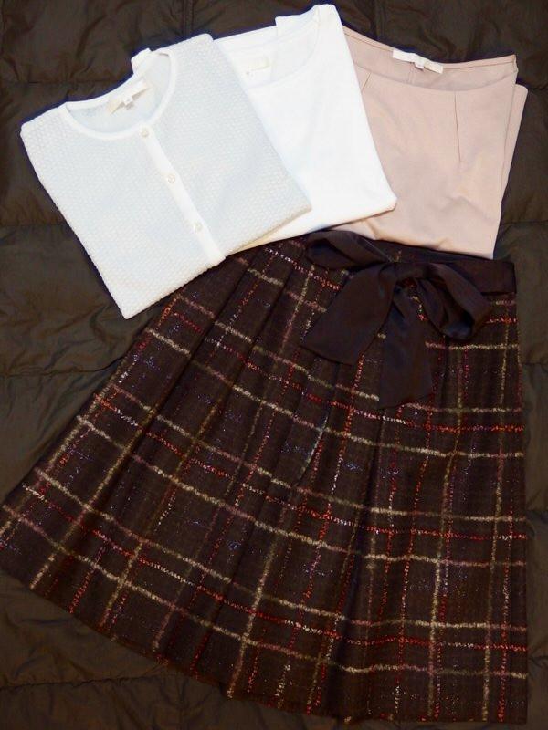 Natural Beauty スカート、カットソー、ツインニット