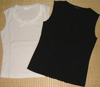 ノースリーブカットソー(白&黒)