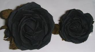 ちびコサージュ(黒)