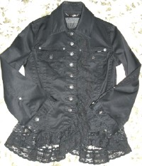 レース付きジャケット(黒)