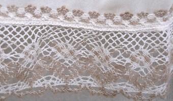 ティアードスカート裾のレース部分