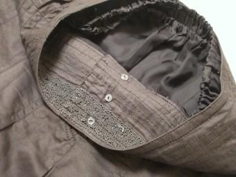 綿ローンプリーツスカートのウエスト部分の裏