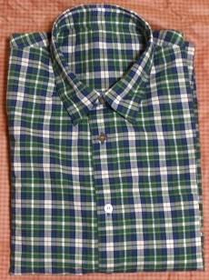 Papasのチェック柄綿シャツ