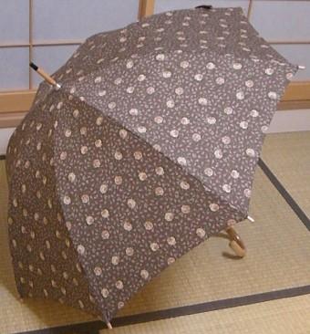 ペティットローズの傘(ココア色)