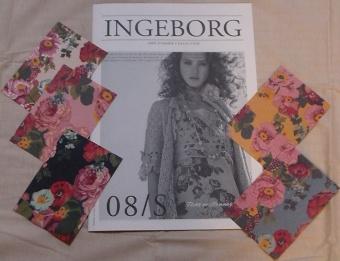 インゲボルグ2008年夏物カタログ&フェアプリントカード