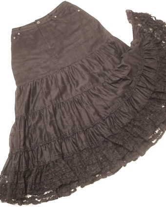 カルゼローンスカート(黒)