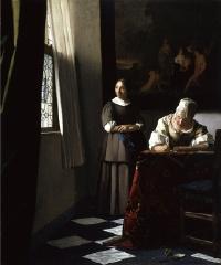 フェルメール「手紙を書く婦人と召使い」
