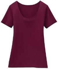 ヒートテックTシャツ(ワイン色)